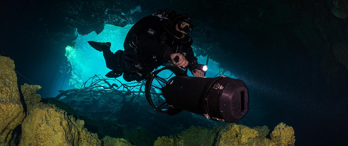 DPV Cave diving Mexico ProTec Dive Centers